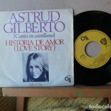Discos de vinilo: ASTRUD GILBERTO-LOVE STORY-HISTORIA DE UN AMOR -CANTA EN CASTELLANO-. Lote 114594367