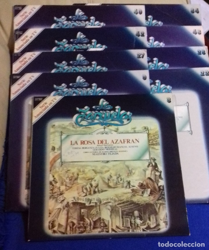 Discos de vinilo: LOTE DISCOS ZARZUELA. 9 UNIDADES. PERTENECEN A UNA COLECCIÓN. - Foto 2 - 113974095