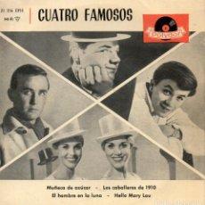 Discos de vinilo - CUATRO FAMOSOS, EP, RENE KOLLO - HELLO MARY LOU + 3, AÑO 1962 - 114604999