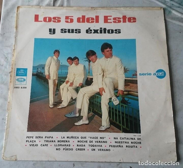 LOS 5 DEL ESTE Y SUS ÉXITOS (EMI REGAL 1967) (Música - Discos - LP Vinilo - Grupos Españoles 50 y 60)