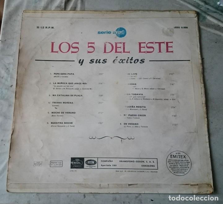 Discos de vinilo: Los 5 Del Este y sus éxitos (Emi Regal 1967) - Foto 4 - 114608299