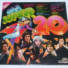 Discos de vinilo: LOS SUPER 20- POLYSTAR- DOBLE LP SPAIN 1976. Lote 114615571