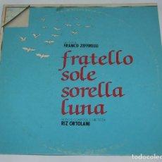 Discos de vinilo: RIZ ORTOLANI – FRATELLO SOLE SORELLA LUNA - PARAMOUNT RECORDS – ORL 8482 - ITALY 1980. Lote 114620591