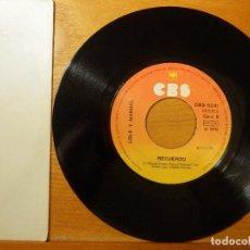 Discos de vinilo: DISCO VINILO - SINGLE - LOLE Y MANUEL - BULERÍA DE LA PENA - RECUERDO - CBS 1968. Lote 114633835