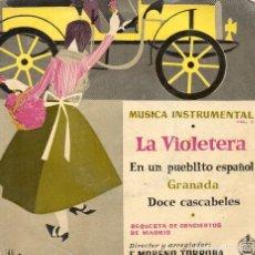 Discos de vinilo: VINILO RETRO EP 1958 - MÚSICA INSTRUMENTAL - LA VIOLETERA + 3 - DIRECTOR FEDERICO MORENO TORROBA. Lote 114647007