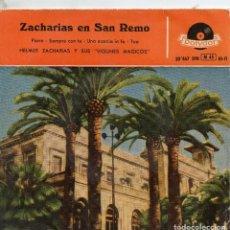 Discos de vinilo: *.- VINILO RETRO EP 1959 - ZACHARIAS Y SUS VIOLINES MÁGICOS - ZACHARIAS EN SAN REMO PIOVE + 3. Lote 114647463