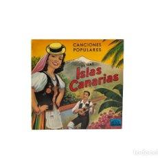 Discos de vinilo: EP. CANCIONES POPULARES DE LAS ISLAS CANARIAS. LOS HUARACHEROS. (VG+/VG+). Lote 114659343