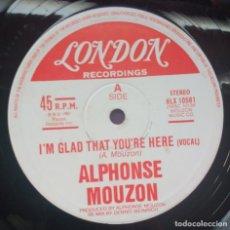 Discos de vinilo: ALPHONSE MOUZON – I'M GLAD THAT YOU'RE HERE. EDICION UK. Lote 114660663