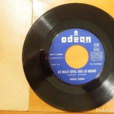 Discos de vinilo: DISCO VINILO - SINGLE - RAFAEL FARINA - LO MALO IGUAL QUE LO BUENO - PIROPO A MARSELLA - ODEON 1968. Lote 114666859
