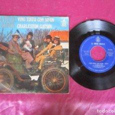 Discos de vinilo: LA VIEJA BANDA VINO TINTO CON SIFON/ CHARLESTON GATSBY 1975 SINGLE VINILO. Lote 114677163