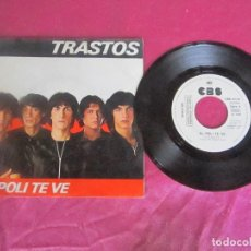 Discos de vinilo: TRASTOS EL POLI TE VE ROCKERS DEL 83 SINGLE VINILO . Lote 114678547