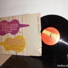 Discos de vinilo: LUIS ARAQUES -CON SU ORQUESTA ESPAÑOLA DE BAILE -MELODIAS ESPAÑOLAS EL TROMPETO FLAMENCO--MONTILLA . Lote 114679959
