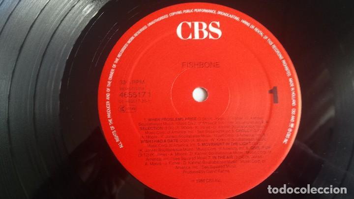 Discos de vinilo: LP FISHBONE: FISHBONE (Edic. Holland 1989) - Foto 4 - 114684527
