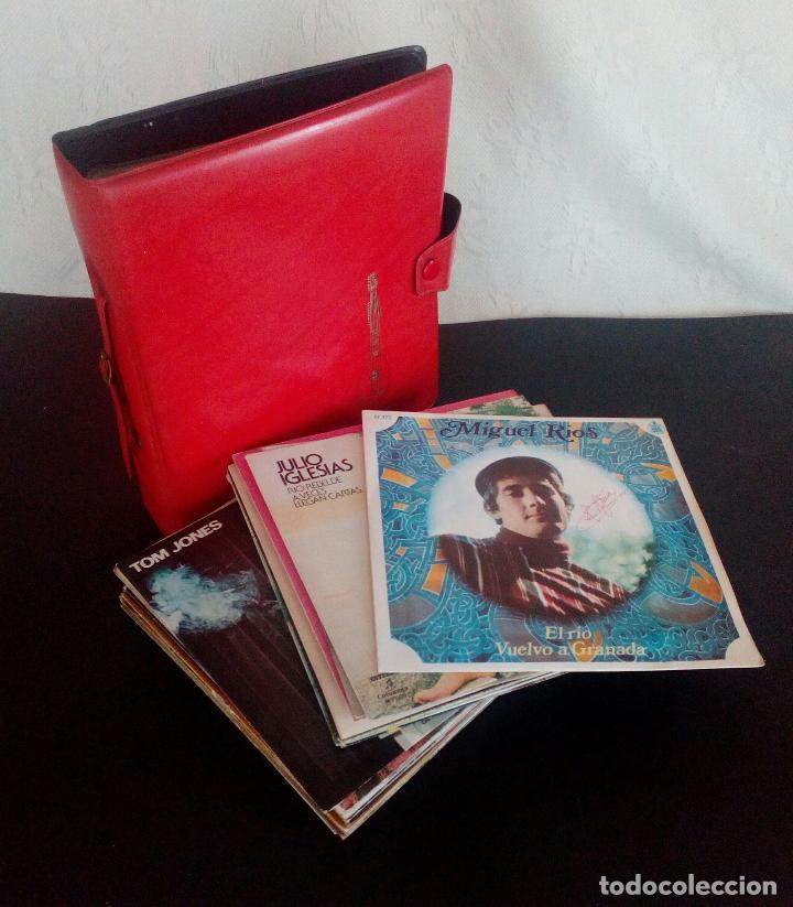 LOTE 25 DISCOS VINILO + ESTUCHE ( VARIOS ESTILOS ) AÑOS 1960/70. (Música - Discos - Singles Vinilo - Otros estilos)