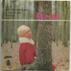 Discos de vinilo: KARINA, EP, CANTA EN PORTUGUES, BONECA DE CERA, BONECA DE SON, GOLDFINGER.., 1965. Lote 114695564