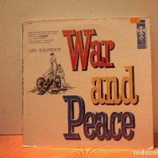 Discos de vinilo: WAR AND PEACE. Lote 114698159