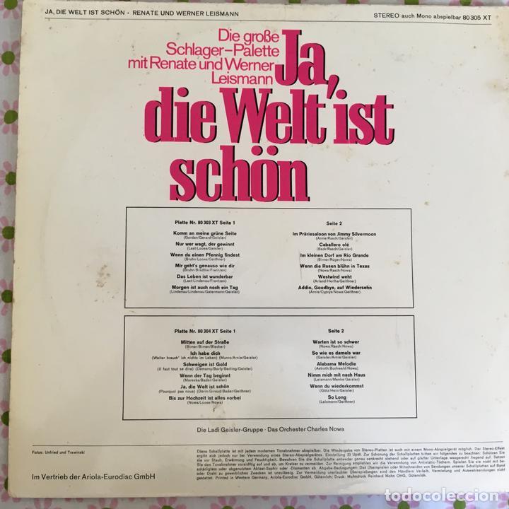 Discos de vinilo: LP DOBLE JA DIE WELT IST SCHON-DIE GROBE... - Foto 2 - 114699183
