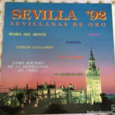Discos de vinilo: LP SEVILLA 92-VARIOS. Lote 114701799