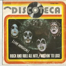 Discos de vinilo: KISS CARPETA DEL SINGLE ROCK AND ROLL ALL NITE / NOTHIN' TO LOSE- CASABLANCA 1976 ESPAÑA SOLO CARPET. Lote 115269836