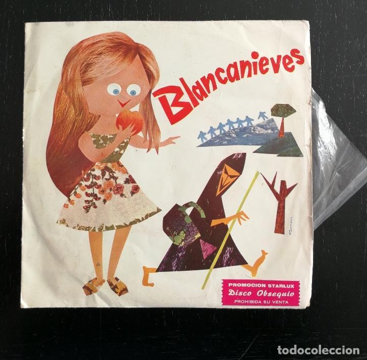 BLANCANIEVES - PROMOCION STARLUX - SINGLE DISCO OBSEQUIO - CUENTOS INFANTILES MARFER 1974 (Música - Discos - Singles Vinilo - Música Infantil)