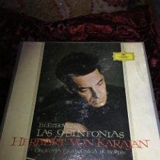 Discos de vinilo: LAS 9 SINFONÍAS DE BEETHOVEN EDICIÓN LIMITADA HERBERT VON KARAJAN. Lote 114717275