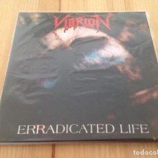 Discos de vinilo: VIBRION -- ERRADICATED LIFE --THRASH DEATH METAL. Lote 114730163