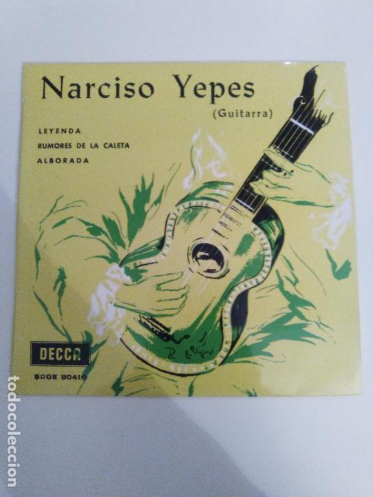 NARCISO YEPES LEYENDA RUMORES DE LA CALETA ALBORADA ( 1969 DECCA ESPAÑA ) ALBENIZ TARREGA (Música - Discos de Vinilo - EPs - Flamenco, Canción española y Cuplé)