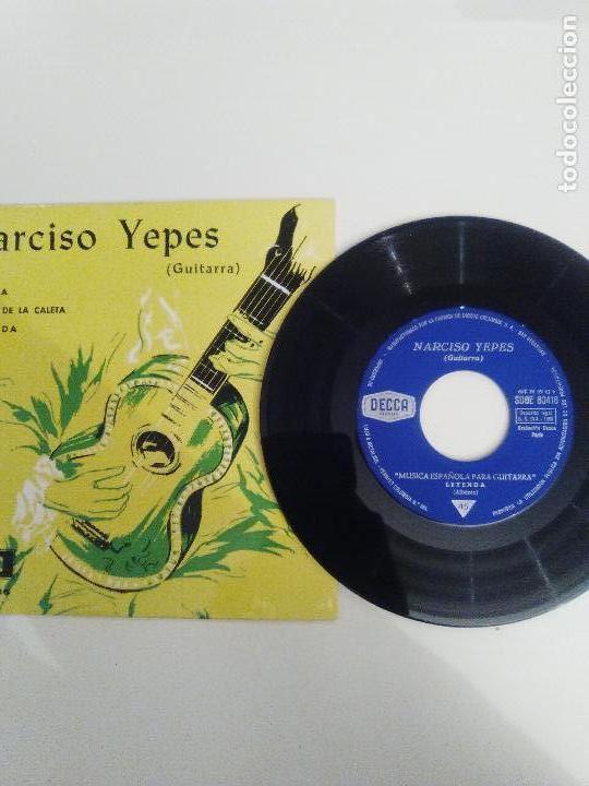 Discos de vinilo: NARCISO YEPES Leyenda Rumores de la Caleta Alborada ( 1969 DECCA ESPAÑA ) ALBENIZ TARREGA - Foto 3 - 114740791