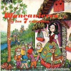 Discos de vinilo: BLANCANIEVES- SINGLE RCA VICTOR 1967 .- CUENTOS. Lote 114748219