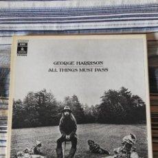 Discos de vinilo: GEORGE HARRISON ALL THINGS MUST PASS 3LP BOX 1970 EMI ODEON REEDICION 154-04.707/9 BEATLES EX. Lote 114767387