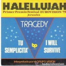 Discos de vinilo: GRUPO VISION– HALELLUJAH (PRIMER PREMIO FESTIVAL EUROVISION 79 JERUSALEM) + 3 TEMAS- EP SPAIN 1979. Lote 114778507