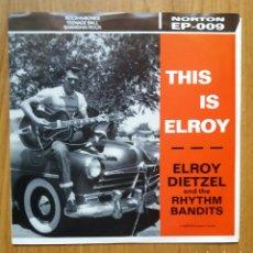 Discos de vinilo: EP ELROY DIETZEL - ROCKABILLY. Lote 114791107