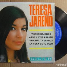 Discos de vinilo: TERESA JAREÑO - VIENEN BAJANDO + ARSA Y VIVA...- EP 1967 - BELTER. Lote 114795063