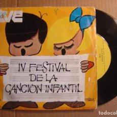 Disques de vinyle: CELIA - IV FESTIVAL DE LA CANCION INFANTIL - FANTASMAS A GOGO + RONDA DE NIÑOS - SINGLE 1970 - PALOB. Lote 114795963