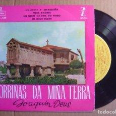 Discos de vinilo: MORRIÑAS DA MIÑA TERRA - ORQ. DE CAMARA DE MADRID DIR. JOSE L. LLORET - SINGLE 1960 - MONTILLA. Lote 114797567