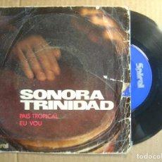 Discos de vinilo: SONORA TROPICAL - PAIS TROPICAL + EU VOU - SINGLE ESPAÑOL 1971 - SPIRAL. Lote 114803587