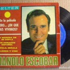 Discos de vinilo: MANOLO ESCOBAR - DE LA PELICULA - PERO..EN QUE PAIS VIVIMOS - EP 1967 - BELTER. Lote 114808431