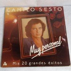 Discos de vinilo: CAMILO SESTO. VINILO. MUY PERSONAL. MIS 20 GRANDES EXITOS. DOBLE LP. EDICIÓN LIMITADA. ARIOLA 1982. Lote 114814311