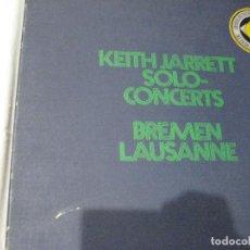 Discos de vinilo: KEITH JARRET, SOLO CONCERTS, BREMEN LAUSANNE, EDICIÓN ALEMANA 1973, ESTUCHE CON 3 LP´S. Lote 114835763