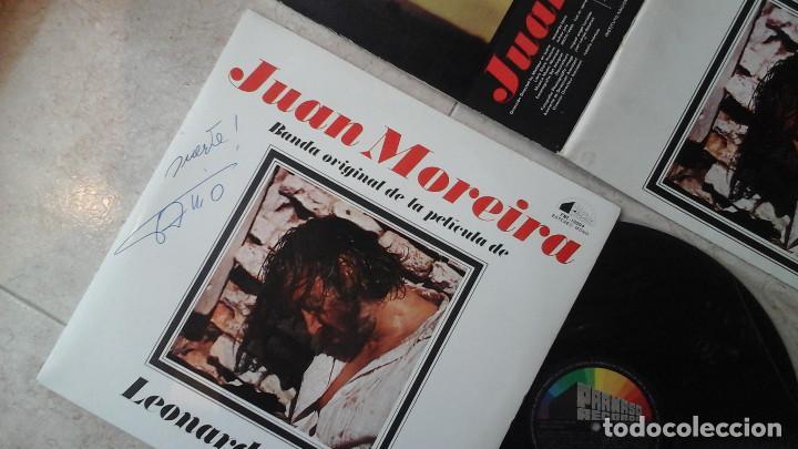 Discos de vinilo: JUAN MOREIRA - LP - B.S.O. DEL FILM - JUAN MOREIRA - 1973- Firmado por Leonardo Favio - Foto 2 - 114837787