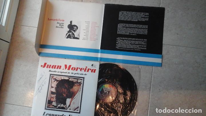 Discos de vinilo: JUAN MOREIRA - LP - B.S.O. DEL FILM - JUAN MOREIRA - 1973- Firmado por Leonardo Favio - Foto 3 - 114837787
