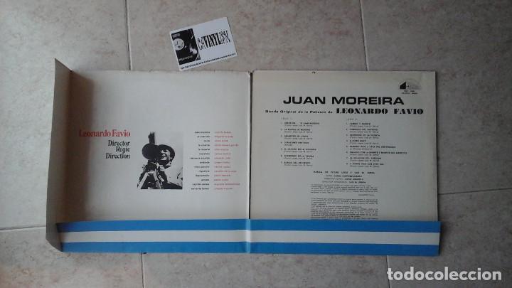 Discos de vinilo: JUAN MOREIRA - LP - B.S.O. DEL FILM - JUAN MOREIRA - 1973- Firmado por Leonardo Favio - Foto 4 - 114837787