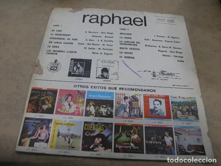 Discos de vinilo: RAPHAEL DISCOS FUENTES COLOMBIA - Foto 2 - 114838071