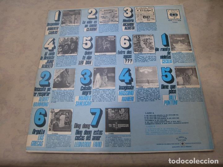 Discos de vinilo: DISCO 13 FABULOSOS VOL. 12 CBS COLOMBIA - Foto 2 - 114839599