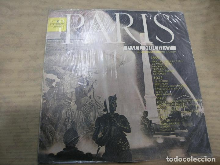 DISCO PARIS PAUL MOURIAT ORQUESTA CUERDAS CUPIDO RECORDS COLOMBIA (Música - Discos - LP Vinilo - Orquestas)