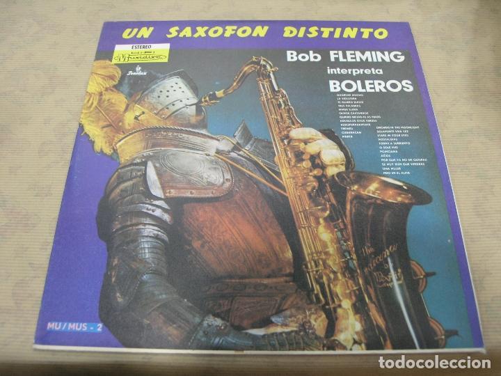 DISCO BOB FLEMING UN SAXOFÓN DISTINTO BOLEROS SONOLUX COLOMBIA (Música - Discos - LP Vinilo - Otros estilos)