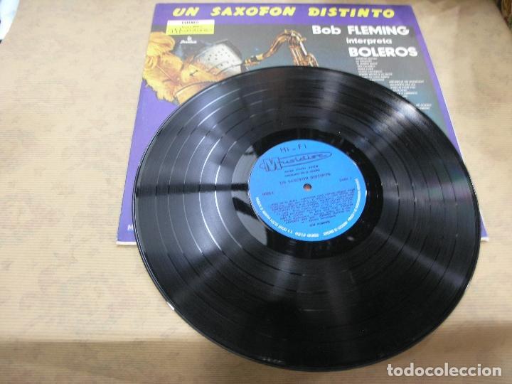 Discos de vinilo: DISCO BOB FLEMING UN SAXOFÓN DISTINTO BOLEROS SONOLUX COLOMBIA - Foto 3 - 114840683