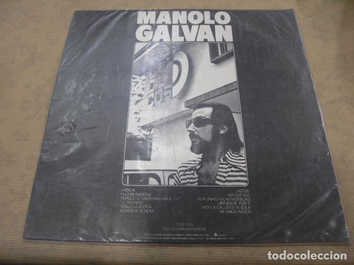 Discos de vinilo: DISCO MANOLO GALVAN HIJO DE RAMERA ARIOLA CODISCOS COLOMBIA - Foto 2 - 114841119