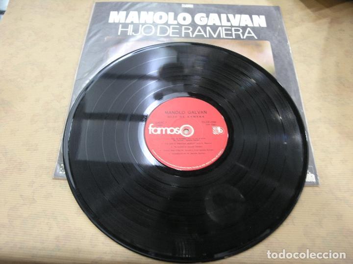 Discos de vinilo: DISCO MANOLO GALVAN HIJO DE RAMERA ARIOLA CODISCOS COLOMBIA - Foto 3 - 114841119