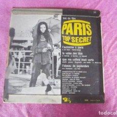 Discos de vinilo: L' AUTOMNE A PARIS CHASON DU FILM PARIS TOP SECRET AZABO .EP VINILO. Lote 114873879